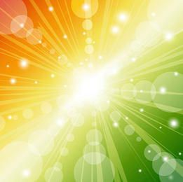 Abstract Colorful Sunbeam Background with Bubbles