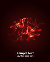 Red Smoky Fire Background