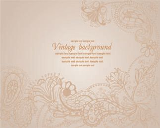 Vintage Floral Frame Background