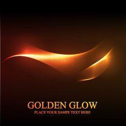 Golden Glow Abstract Spiral Line Hintergrund