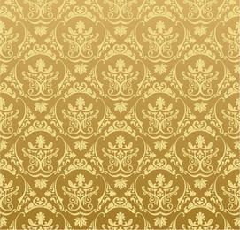 Golden Retro Ornamental Pattern