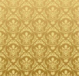 Padrão Ornamental Retro Dourado