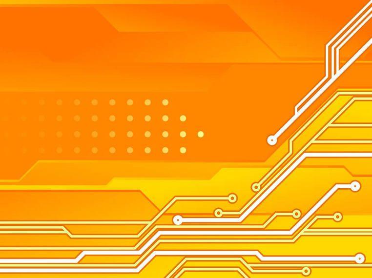 Circuit Board Orange Tech Background - Vector download