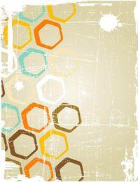 Fondo sucio con círculos geométricos