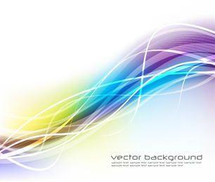 Bunte wellenförmige Leuchtstofflinien Hintergrund