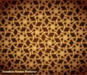 Seamless Golden Vintage Damask Pattern