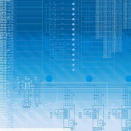 Blauer Digitech-Hintergrund mit Linien