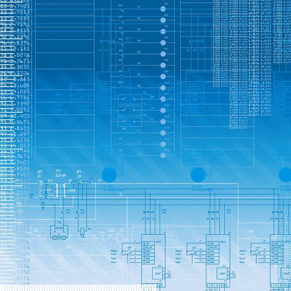Blue Digitech Background with Lines