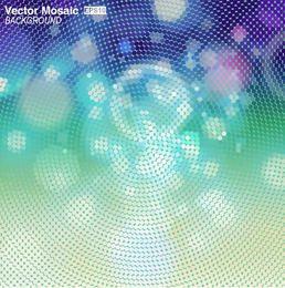 Fundo abstrato mosaico com luzes