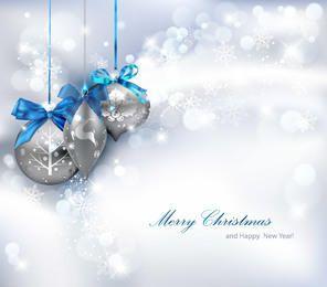 Shiny Silver Christmas Background