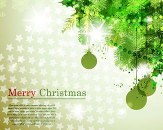 Tree Branch Corner Christmas Background