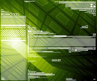 Fondo verde abstracto de alta tecnología