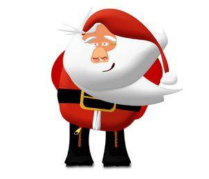 Vetor de desenhos animados de Papai Noel