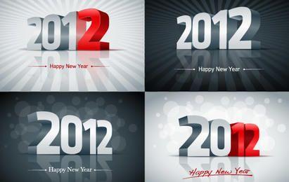 Gráficos de vetor de ano novo de 2012
