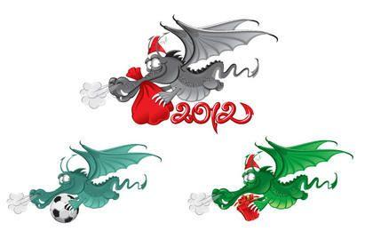 New Year dragon 2012 vector