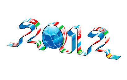 Mapas mundiais do ano novo de 2012