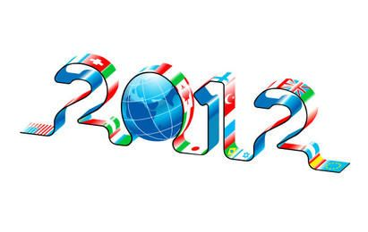New Year 2012 World Maps