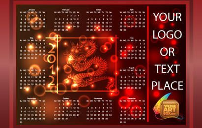 RED DRAGON CALENDAR 2012