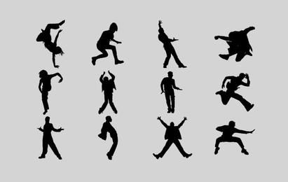 Men Emotion Silhouettes
