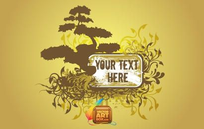 Floral Tree Frame Template