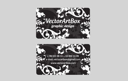 White Floral Business Card