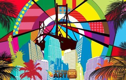 Free Pop Art Background
