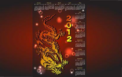 Calendario del dragón para el año 2012