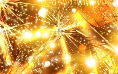 Golden Christmas Tinsel Background