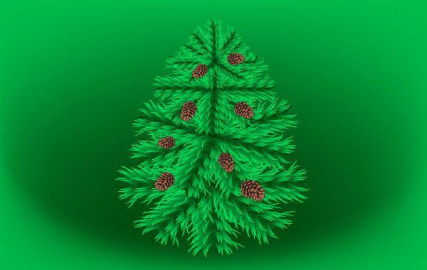 Fir Christmas Vector Tree
