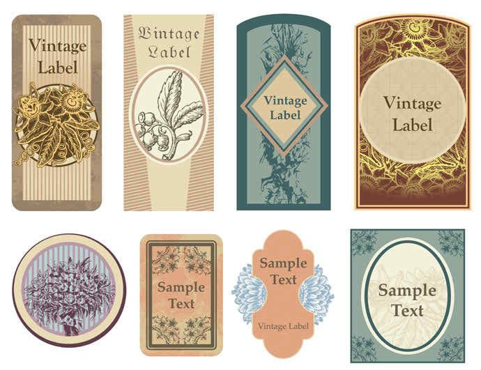 Decorative Vintage Label Pack