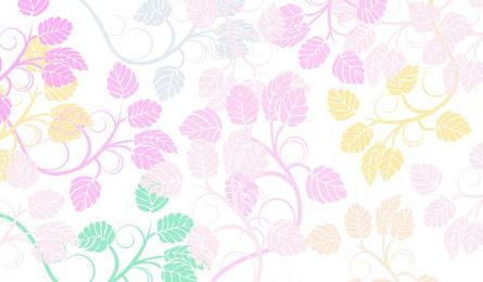 Leaves floral background