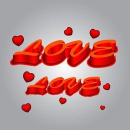 Amor 3d Texto