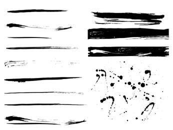 Grunge Paint Traces & Splashes