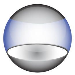 Glossy transparent orb, eps10 vector