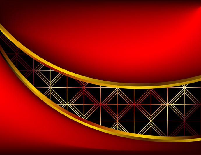 Red 3d Background Vector Download