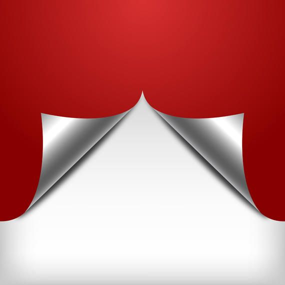 Red Curl Paper Background