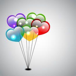 Balões dados forma coração