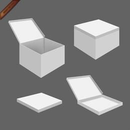 White Packaging Box Templates