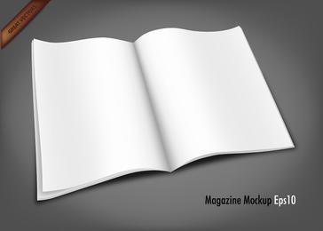 Free Vector Magazine Mockup