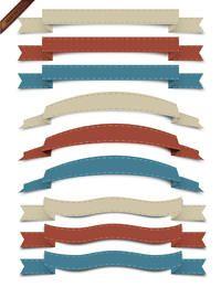 Vector Retro Ribbon Collection