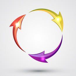 Shiny Arrow Circle
