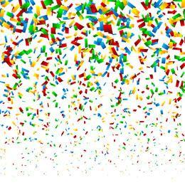 Falling Confetti Background