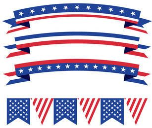 USA Buntings Ribbons