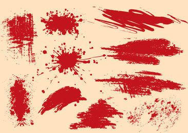 Grungy Splashed Splatters