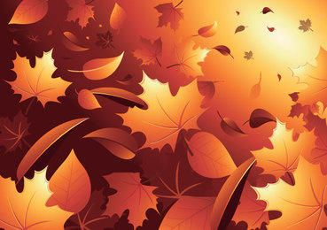 3D Autumn Leaves Background