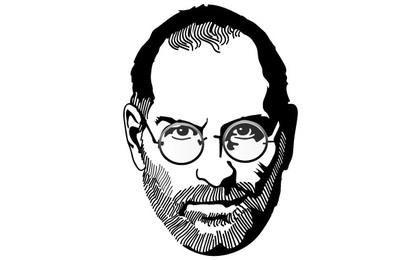 Steve Jobs In Memoriam vector