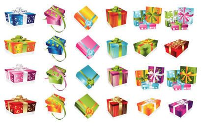 24 cajas de regalo de colores