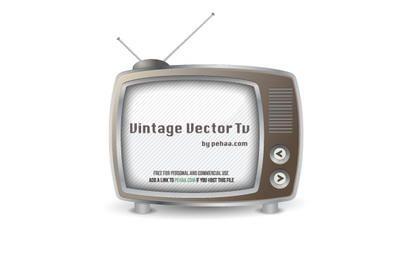 Vintage TV Vector Free