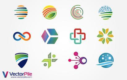 Elementos de diseño de logotipo mixto