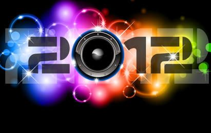 Feliz Ano Novo 2012 Vetores